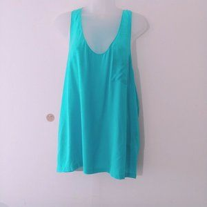 Alexander Wang Women Tank Top L Teal Sleeveless